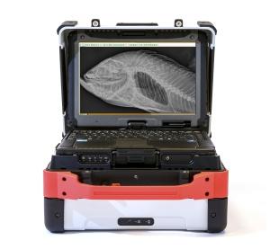 The Vet Rocket X1 displaying a fish Xray